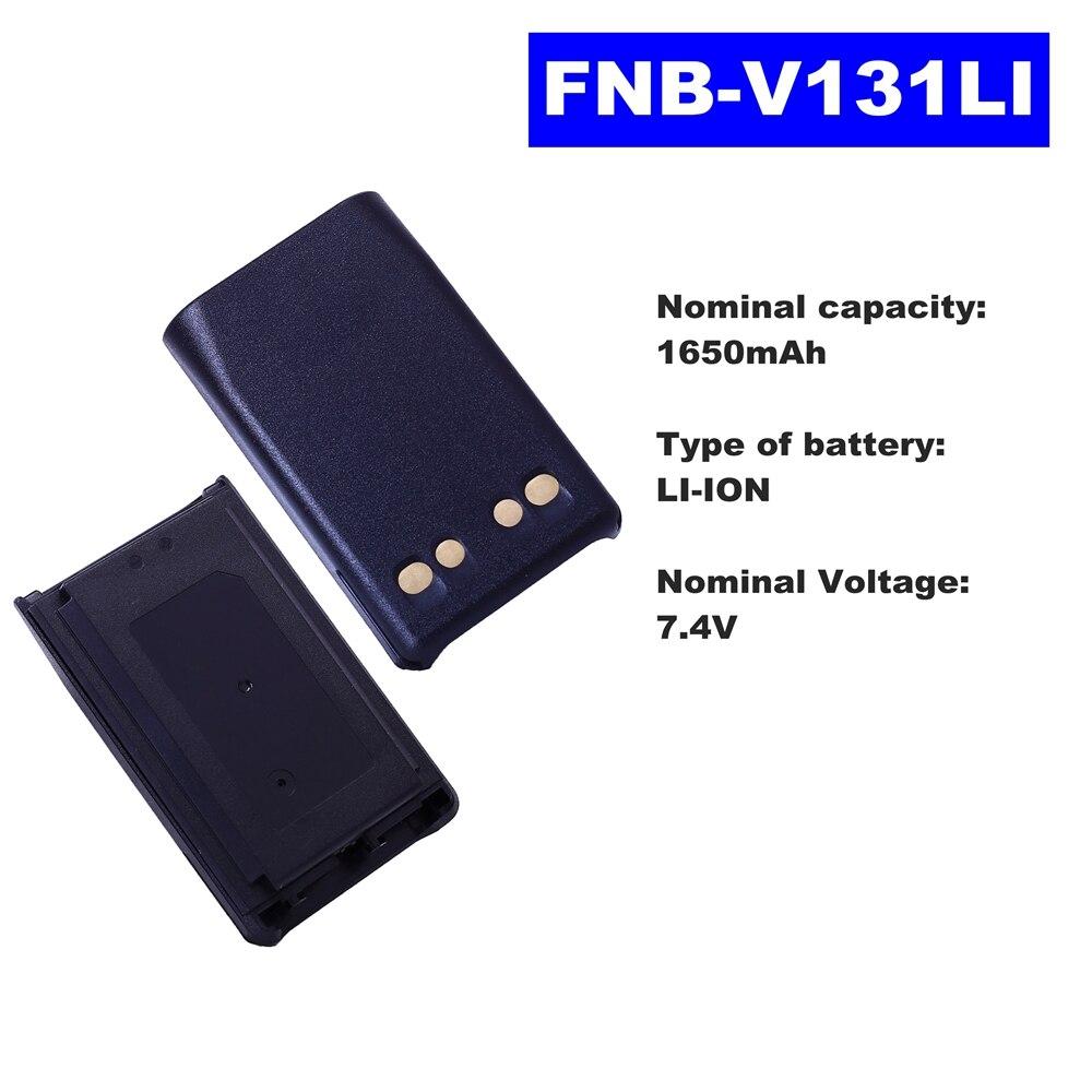 7.4V 1650mAh LI-ION Radio Battery FNB-V131LI For Vertex Standard Walkie Talkie VX231/228/230 Two Way Radio