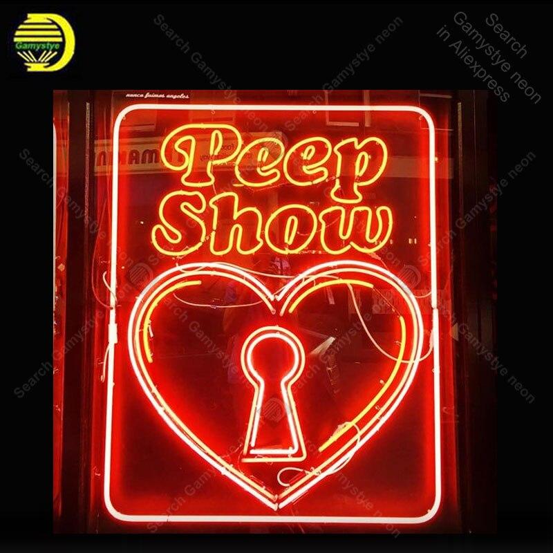 Enseigne au néon pour Peep Shop décor accueil affichage coeur bière Express néon éclairer enseigne murale artisanat Art néon enseignes pour chambre Letrero