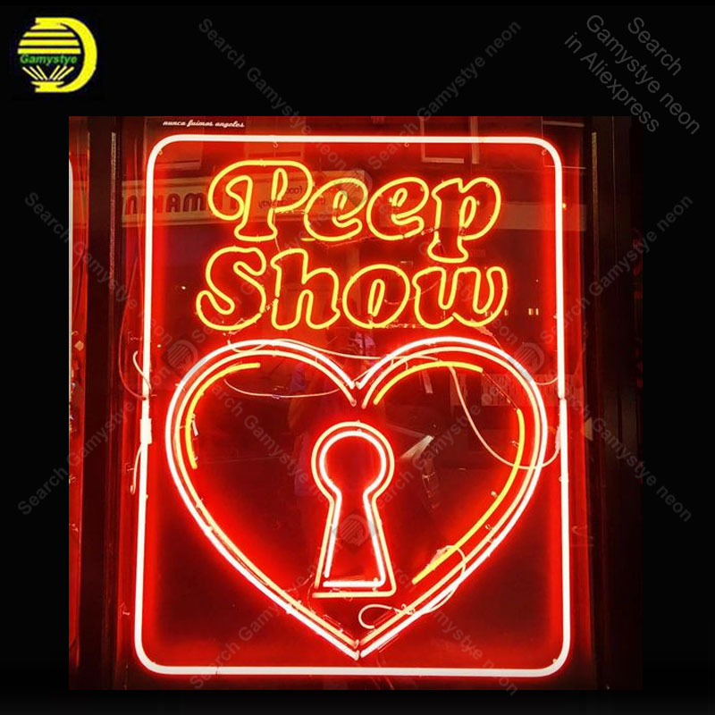 Neon Sign For Peep Shop Decor Home Display Heart Beer
