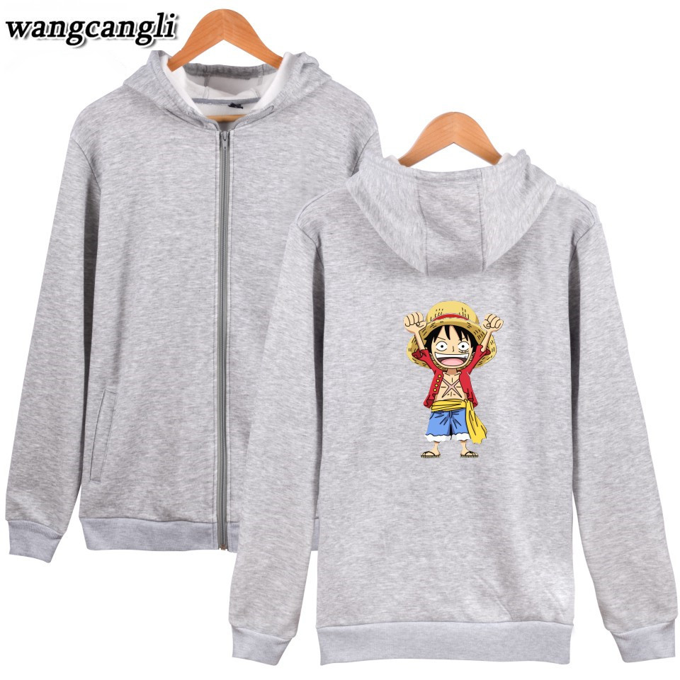 Men's Clothing One Piece Monkey D Luffy Fashion Hoodies Anime Cotton Hoodie Sweatshirt Harajuku Hip Hop Brand Tracksuit Coat Moleton Masculino