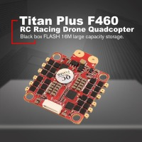 HGLRC Titan Plus F460 Stack AIRBUS F4 Flight Controller FC OSD & Dinoshot1200 60A Blheli_32 ESC for RC Racing Drone Quadcopter