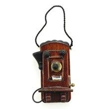 ABWE Лучшая 1:12 миниатюрный антикварный настенный телефон кукольный домик украшения Аксессуары