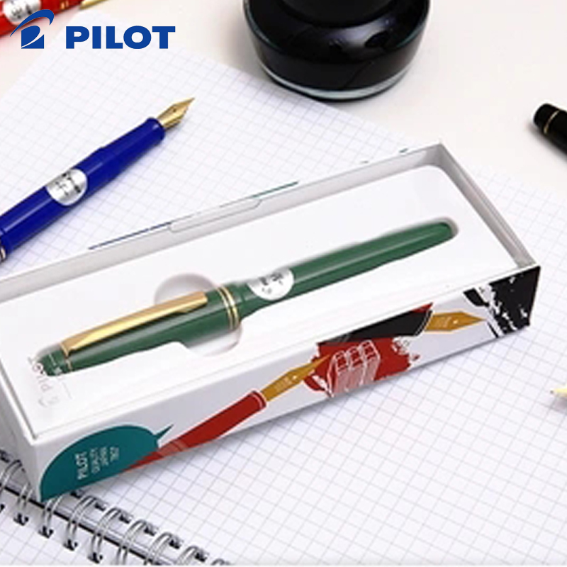 2 Pcs Fontain Pen 22K Gold Plated Nib Fountain pen Original JAPAN PILOT 78G+ or IC-50 INK Cartridges refills 4 colors to choose цены