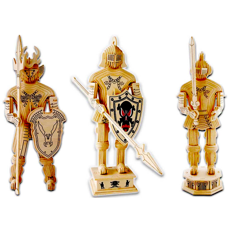 Kids Toys For Children Of 3D Wooden Puzzle The Knights A High Quality Montessori Educationaly Diy Toy As A Good Gift For Familys knights of valour the seven spirits sammy atomiswave mother board game cartridge good quality low shipping cost