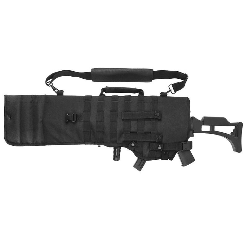 Tactical Rifle Backpack Padded Shot Gun Case Protection with Molle Belt Loop Hunting Pistol Scabbard Holster фляга shot gun