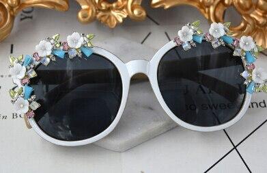 Модный бренд, винтажные серьги-капли, ювелирные изделия в стиле барокко, европейский стиль, розовая Цветочная ветка, висячие серьги для женщин с солнцезащитными очками - Окраска металла: Sunglasses 2