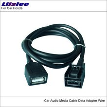 Liislee Original Plugs To USB Adapter Conector For Honda CRV CR-V City Car CD Radio Audio Media Cable Data Wire