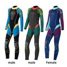 Детский костюм для дайвинга 2,5 мм неопреновый гидрокостюм для детей, сохраняющий тепло, для подводного плавания, серфинга, цельный, с длинными рукавами, УФ-защита, купальники