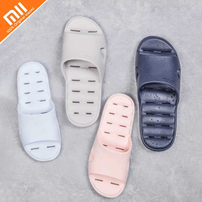 a3715015a2ba Original Xiaomi One cloud bathroom non-slip leaking slippers light leaky  design wear-resistant