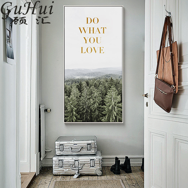 Us 6 89 48 Off Poetry And Distance Europe Journey Landscape Painting Canvas Snow Valley Wall Picture Vertical Layout Decorative Painting Poster In