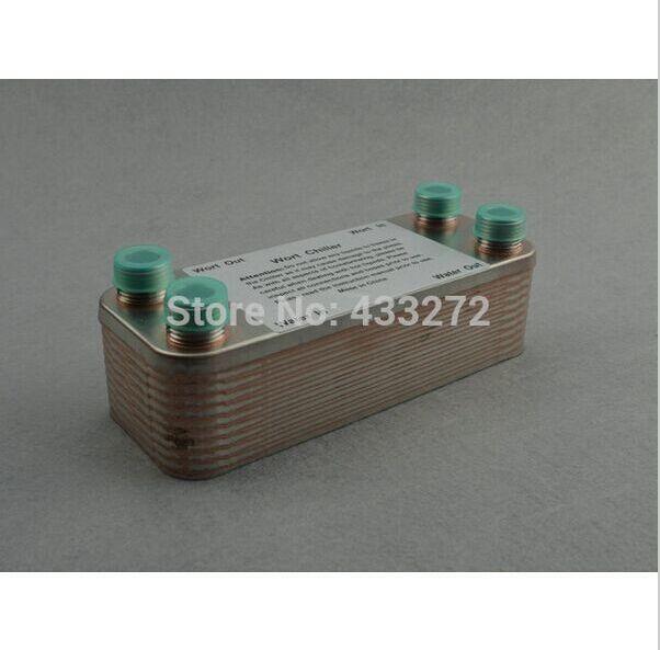 20 Plates Wort Chiller Plate heat exchanger Stainless Steel 304 Brewing Chiller 1 2 BSP