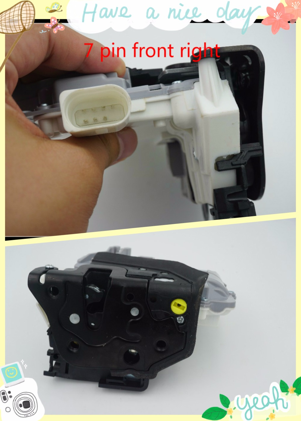 OE 8J1837016A 3C1837016A FRONT RIGHT CENTRAL DOOR LOCK LATCH ACTUATOR 3C1837016B FOR VW PASSAT B6 SKODA