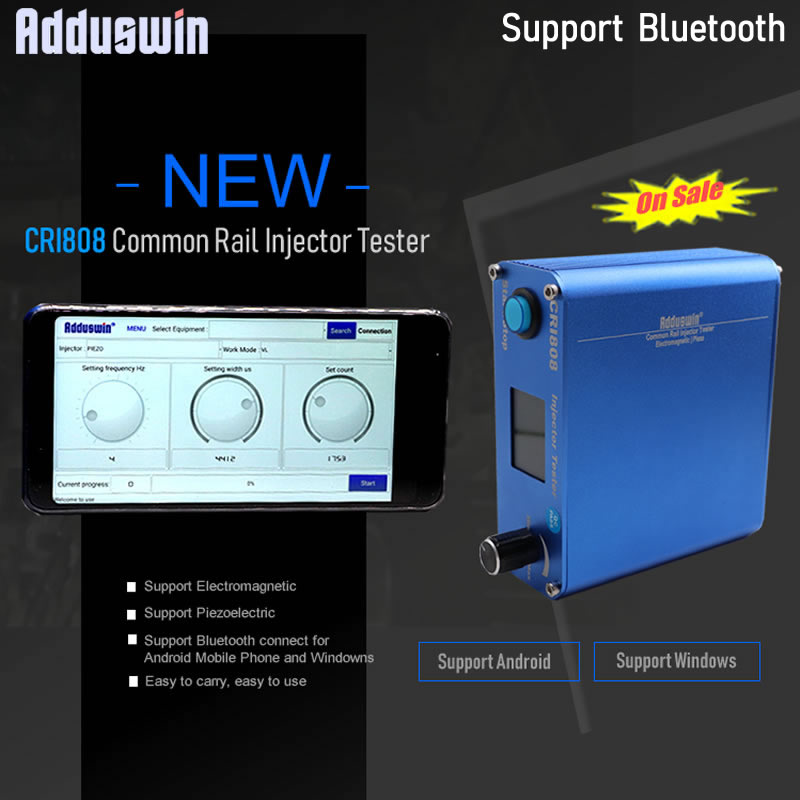 New CRI808 update CRI800 Electromagnetic Piezo Injector Tester Wireless Bluetooth common rail injector tester Piezo tester