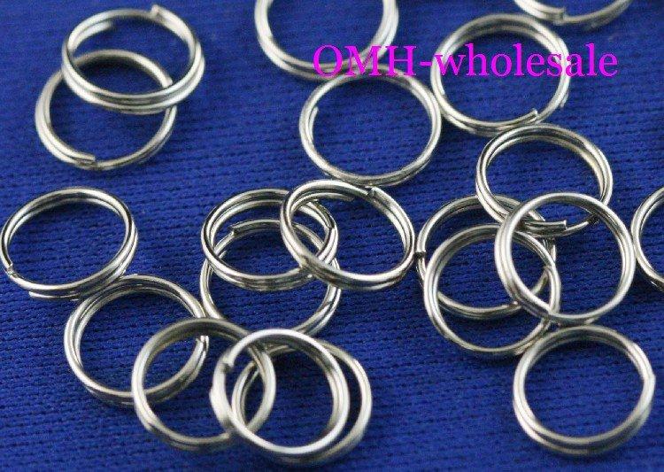 32d88a66f5 OMH en gros 10mm 500 pcs Bijoux accessoires Trouver DIY cercle Nickel  placage Plaqué Ouvrir Metal split Anneaux DY47