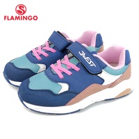 FLAMINGO New Arrival Orthotic Leather Insole Shoe Hook&Loop breathable Spring girl sneaker Size 31 37 free shipping 91K EW 1213