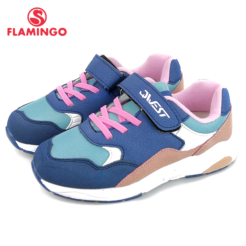 FLAMINGO New Arrival Orthotic Leather Insole Shoe Hook&Loop breathable Spring girl sneaker Size 31- 37 free shipping 91K-EW-1213