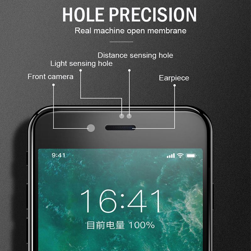 Image 2 - 6D Full Cover Tempered Glass For iPhone 8 7 6 6S Plus X XS MAX glass iphone 7 8 x screen protector Protective glass on iphone 7-in Phone Screen Protectors from Cellphones & Telecommunications