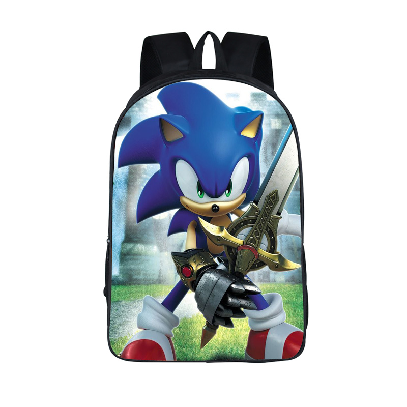 cartoon sonic backpack for teenager boys girls daypack children school bags kids student book bag