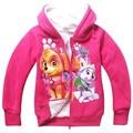 Niños rematan la ropa de la cremallera con capucha abrigos de manga larga de franela outwear adolescente niños chicas Chaqueta de punto abrigo vetement K012003