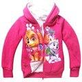 kids tops clothes zipper hooded coats long sleeve flannel outwear teen children Cardigan sweater girls overcoat vetement K012003