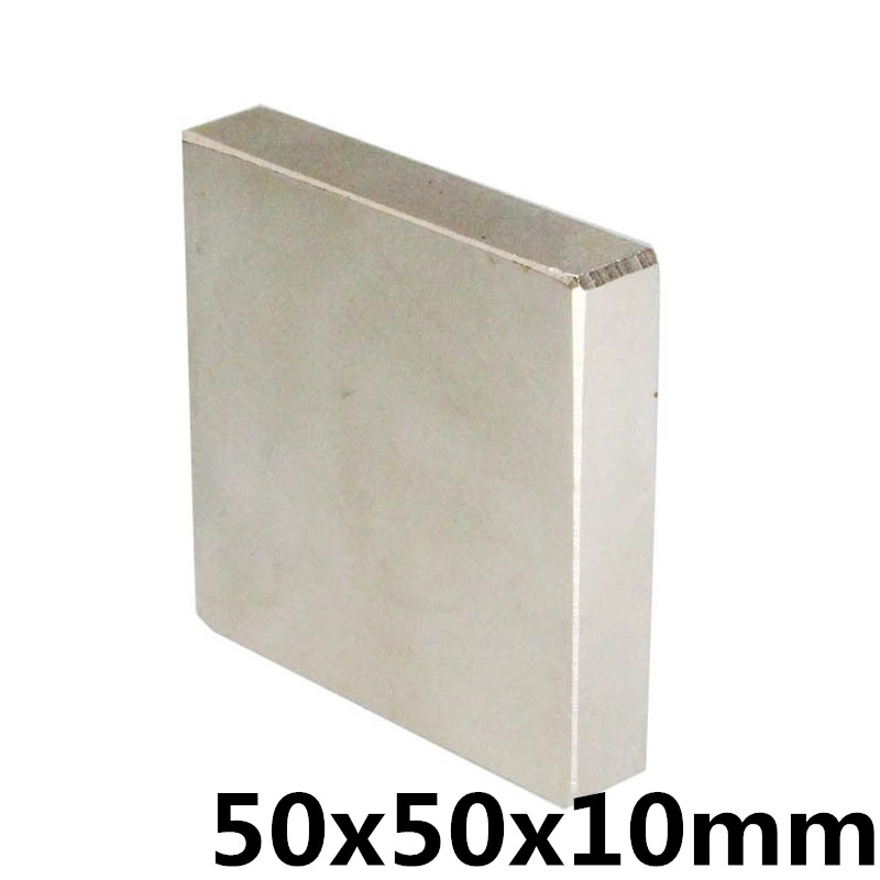 1Pcs 50x50x10mm Neodymium Magnet Block N35 Permanent Super Strong Powerful Small Magnetic Magnets Square 50 mm x 50 mm x 10 mm1Pcs 50x50x10mm Neodymium Magnet Block N35 Permanent Super Strong Powerful Small Magnetic Magnets Square 50 mm x 50 mm x 10 mm