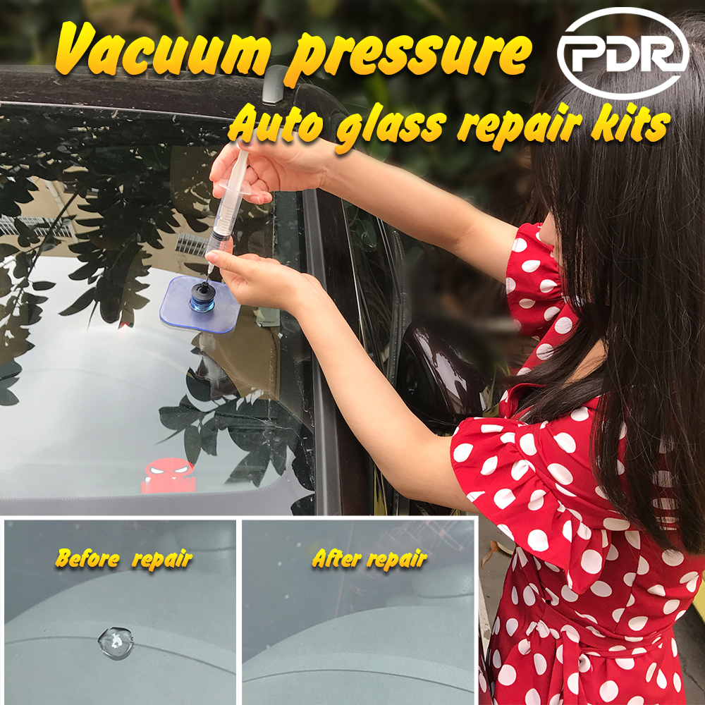 PDR Tools Car Windshield Repair Kit Tools Auto Glass Windscreen Crack Restore Vacuum Pressure Repair Set Automobiles Care