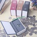 Ultra-pequeno dicionário livros seguro chave com chave moeda moedas piggy bank piggy bank