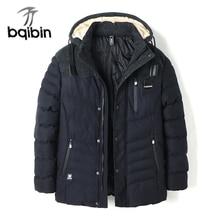 Parka Men New 2017 Winter Jacket Men Fashion Cotton Coat Warm Long Parka Homme Men's Casual Slim Fit Hood Outwear Coats L-3XL