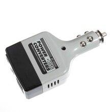 Car Charger Mobile Power Inverter Adapter DC 12V/24V Converter Plug + USB