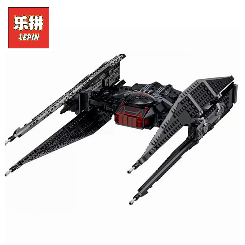 Lepin 05127 Star Series Wars classic toys Kylo Ren tie fighter first order starship model building blocks bricks toys LegoINGlys new 1685pcs lepin 05036 1685pcs star series tie building fighter educational blocks bricks toys compatible with 75095 wars