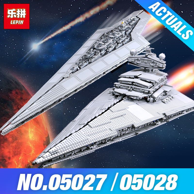 LEPIN 05027 Star Plan 05028 Emperor fighters starship Model Building 10221 Destroyer compatible 10030 Wars Blocks Bricks Gifts 2017 hot 05027 3250pcs star fighters starship model building kit blocks bricks assembling toy compatible with 10030 wars