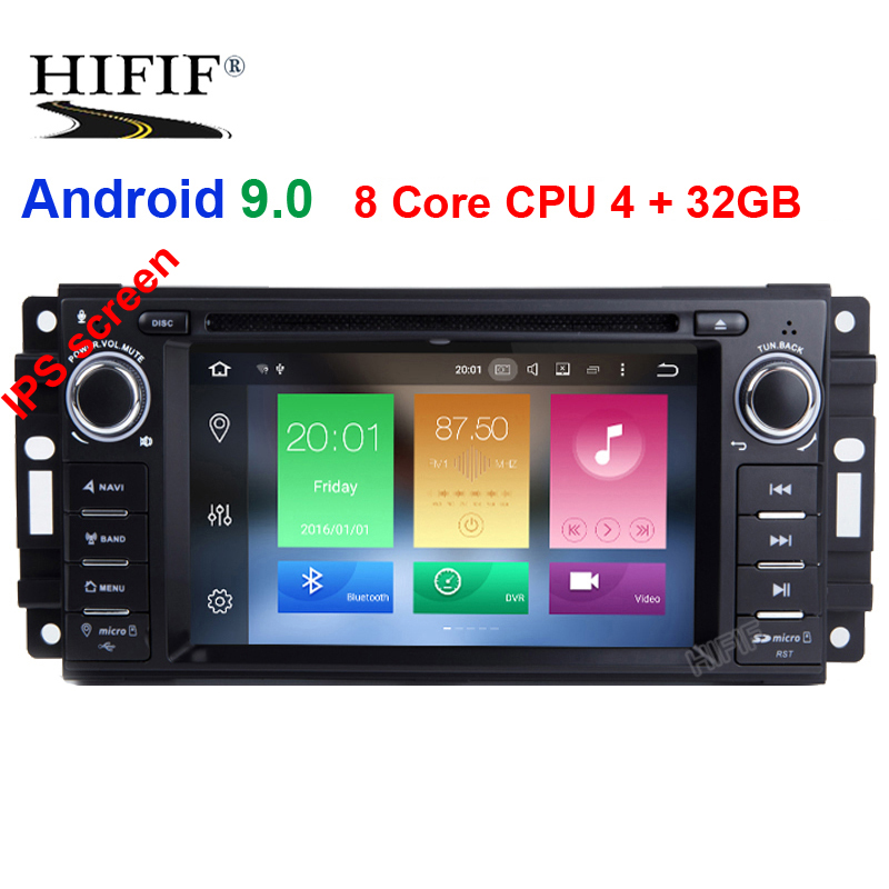 DSP 6.2 8 Core Android 9.0 OS Special Car DVD for Jeep Patriot 2009 2011 Chrysler 300C 2008 2010 & Chrysler Sebring 2007 2010