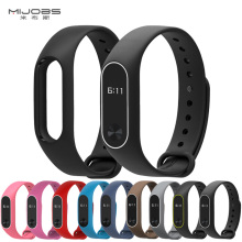 Mijobs Mi Band 2 Strap Silicone Bracelet Wristband miband Smart Accessories wrist xiomi mi band black for Xiaomi
