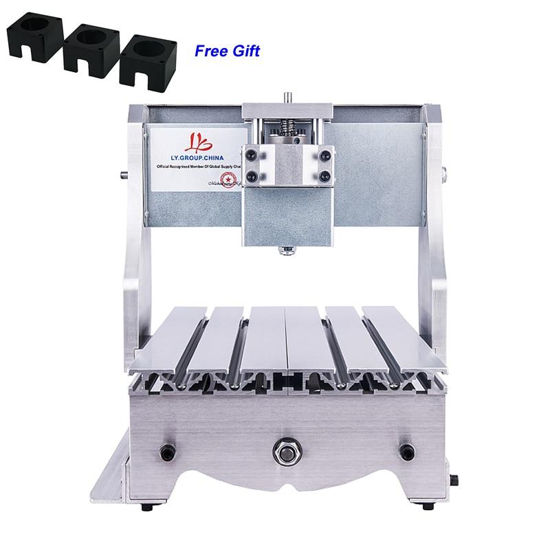 Mini CNC Router Frame 3020 Trapezoidal Screw DIY Engraving Machine Kit aluminum lathe body cnc 6040 router 1605 ball screw cnc frame kit diy cnc engraving machine