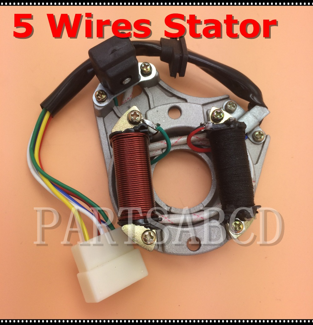 Atv Parts & Accessories Atv,rv,boat & Other Vehicle Fast Deliver 5 Wires Magneto Stator 50cc 70cc 90cc 110cc Chinese Engine Parts Atv Bike Go Kart Parts Nourishing Blood And Adjusting Spirit
