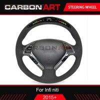 q50 fx35 interior carbon fiber steering wheel for Infiniti Q50 Q30 luxury suv fx35 g35 g37 qx 60 qx70 qx80 auto accessaries