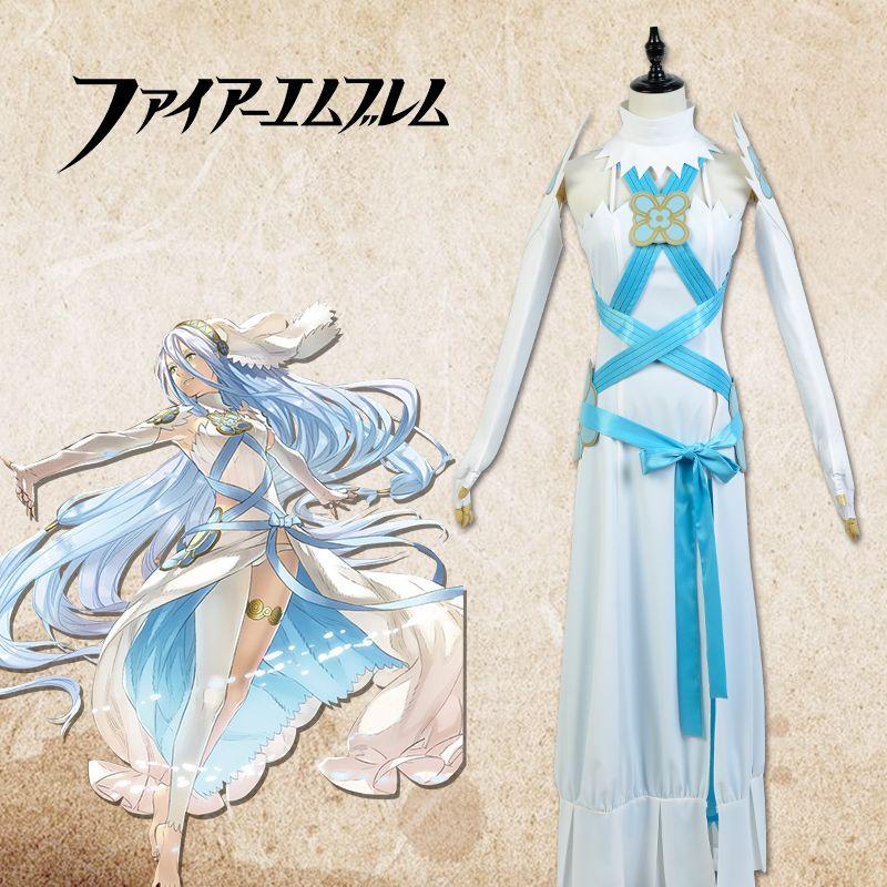 In Fire Das Licht Azura Verschiffen Weiße Uniformen Kostüm Emblem Cosplay freies FFAw6qnO