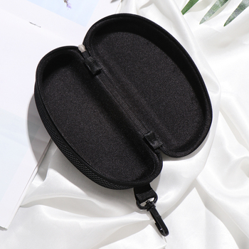 New Zipper Eye Glasses Sunglasses Hard Case Cover Bag Storage Box Portable Protector Black High Quality 4