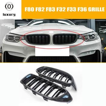 M3 M4 In Fibra di Carbonio 2 Sale Stile Front Rene Griglia per BMW F80 M3 F82 F83 M4 e F33 F32 F36 Serie 4 2012-2017