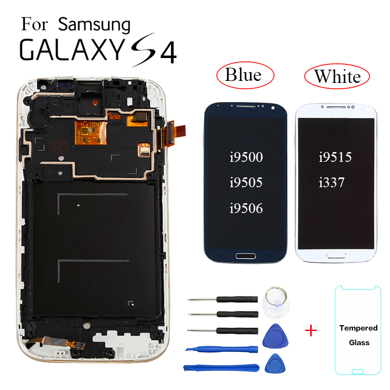 TFT For Samsung Galaxy S4 I9500 I9505 I9506 Display LCD Screen Replacement For Samsung S4 I9515 I337 Display With Frame Module