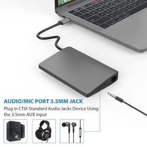 Image 5 - USB C סוג C מחשב נייד עגינה עבור Macbook USB C כדי HDMI מיני DP 4K RJ45 Ethernet USB 3.0 אודיו 3.5mm סוג C טעינת Dock