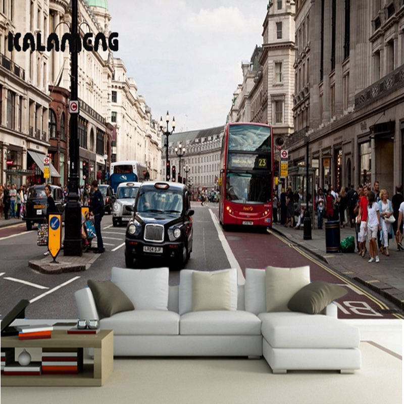 KALAMENG Custom 3D Wallpaper Design European Street Photo Kitchen Bedroom Living Room Wall Murals Papel De Parede Para Quarto european church square ceiling frescoes murals living room bedroom study paper 3d wallpaper