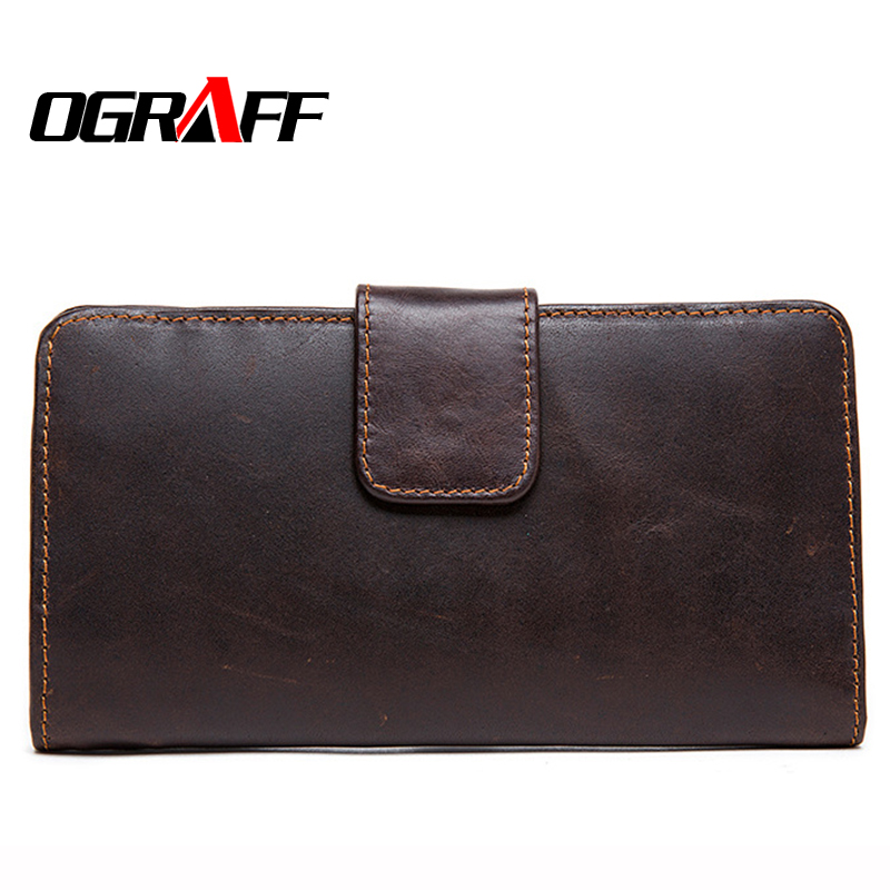 OGRAFF Men leather wallet long wallet luxury genuine leather purse high quality fashion money clip designer wallets famous brand  bvlriga women wallets famous brand leather purse wallet designer high quality long zipper money clip large capacity cions bags