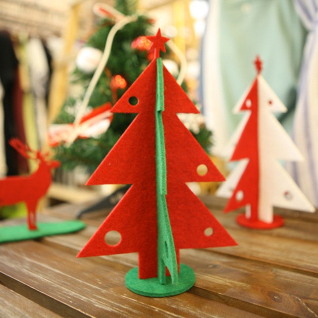 2pcs mini wooden christmas tree with 16 small ornament snowman bell christmas table decorations 21 - Wooden Christmas Table Decorations