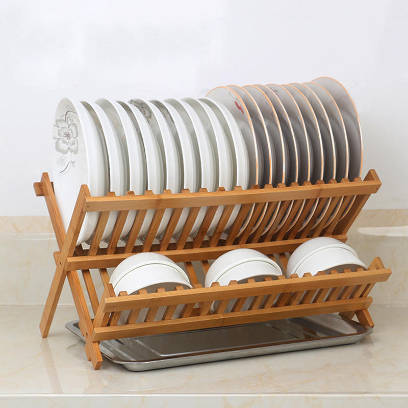 Bamboo Dish Drying Rack.Us 29 88 Dish Drying Rack Bamboo Dish Rack Collapsible Dish Drainer Foldable Dish Drying Rack Wooden Plate Rack Made Of 100 Natural Bam In Storage