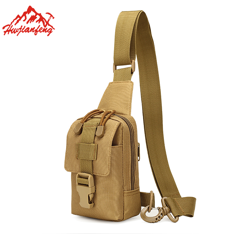 Men Shoulder Small Chest Bag Outdoor Sports Cycling Messenger Bags Nylon Waterproof Tactical Hiking Travel