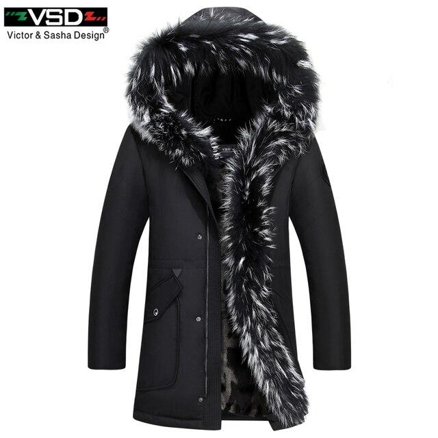 VSD 2017 90% зимние пару моделей Пух куртка утепленные ботинки с высоким голенищем кролик Мех Куртка с воротником женщина заполнены утка