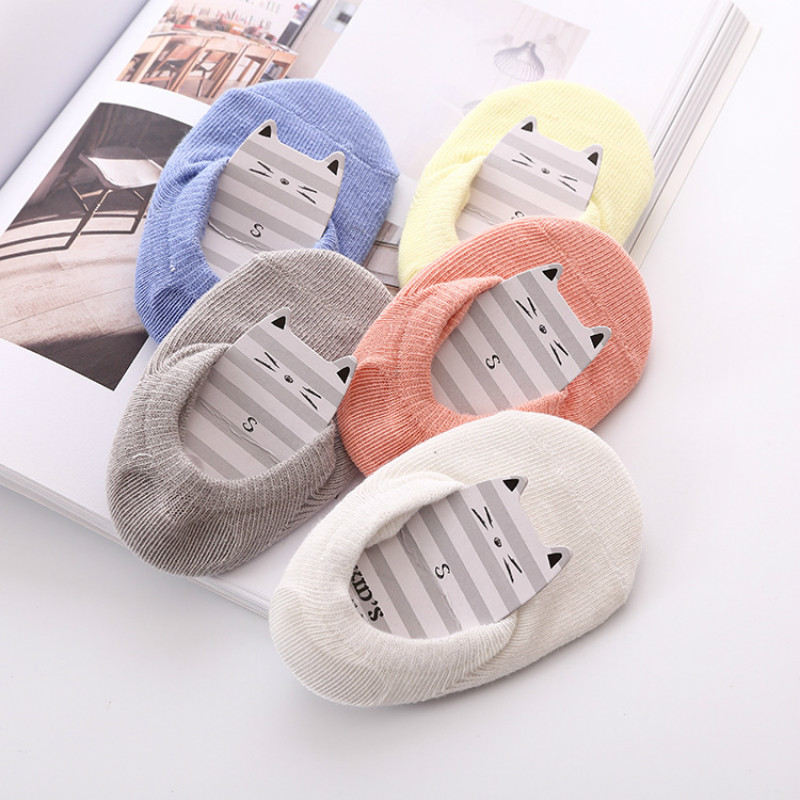 5pair/Lot Childrens Spring/Summer New Socks Baby Boat Socks/Invisible Socks Solid Color5pair/Lot Childrens Spring/Summer New Socks Baby Boat Socks/Invisible Socks Solid Color