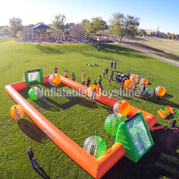 Hot sale water inflatable soap soccer field soccer Sport Arena field for adult and kids