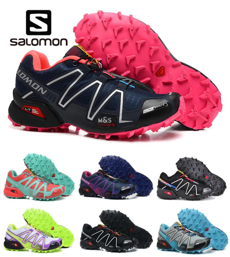 quite nice 6eeb5 3663d Salomon Speed Cross 3 CS Breathable Sneakers Zapatillas Deportivas Solomon  Running Outdoor Women Athletic Sport Shoes